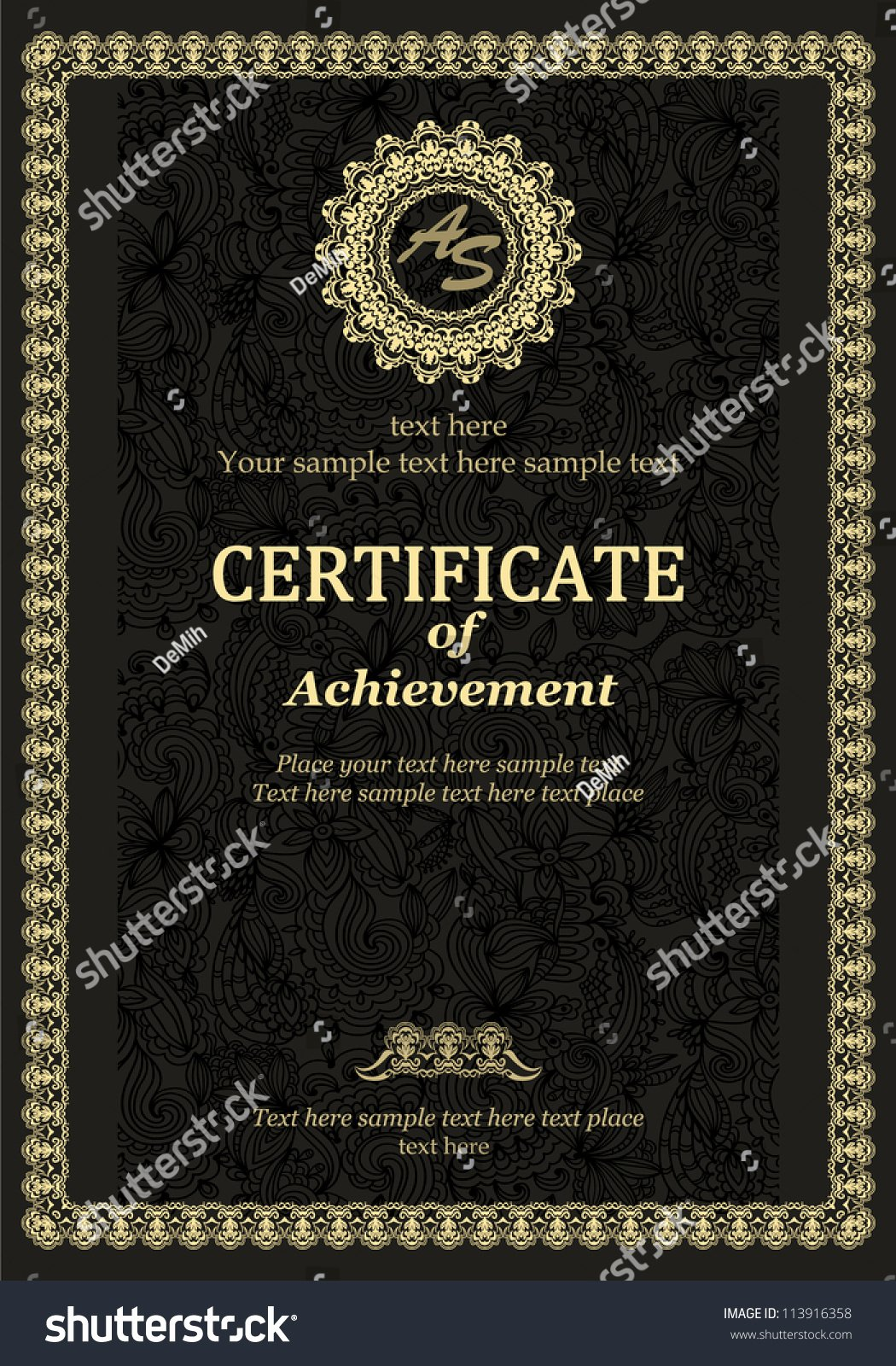 Certificate Of Achievement Frame Elegant Classic Vintage Frame Certificate Achievement Diploma