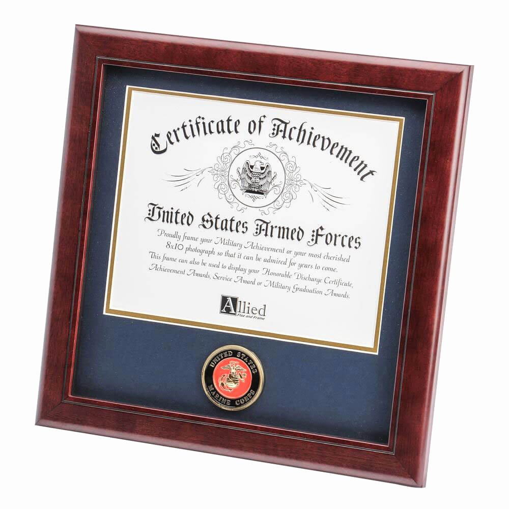 Certificate Of Achievement Frame Fresh Marine Corps Certificate Of Achievement Frame