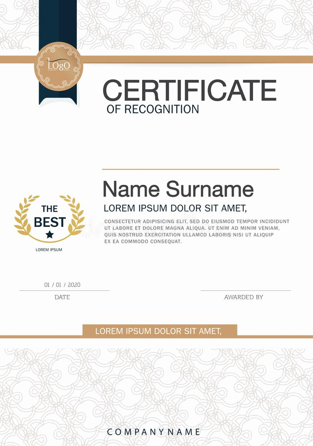 Certificate Of Achievement Frame Inspirational Certificate Achievement Frame Design Template Layout
