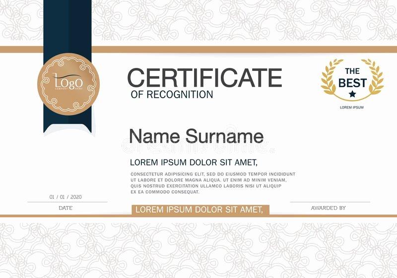 Certificate Of Achievement Frame Unique Certificate Achievement Frame Design Template Layout