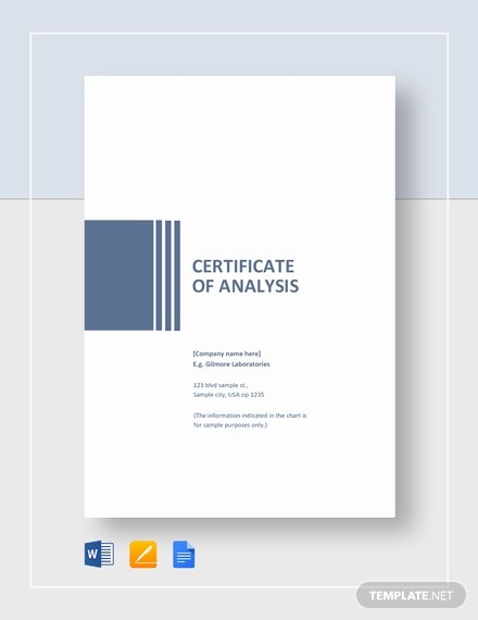 Certificate Of Analysis Template Fresh Simple Certificate Of Analysis Template Download 198