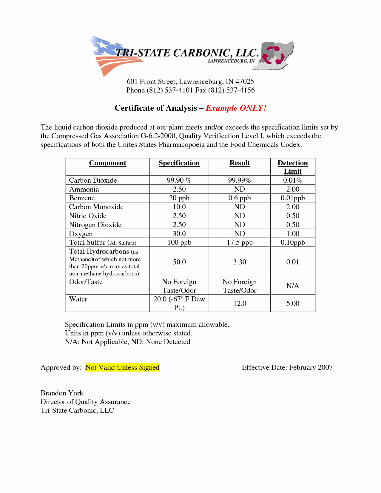 Certificate Of Analysis Template Lovely 5 Certificate Of Analysis Template