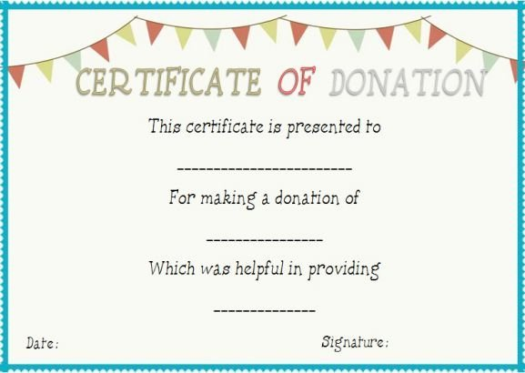 Certificate Of Appreciation for Donation Template Inspirational Donation In Honor Certificate Template