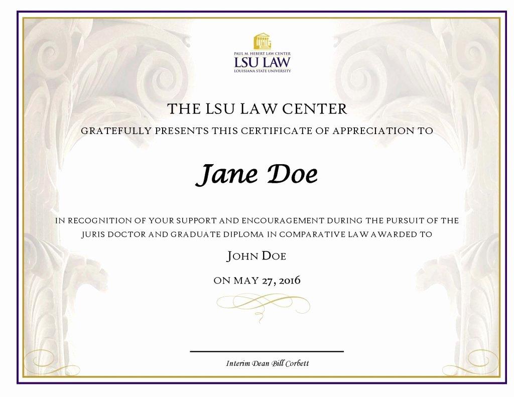 Certificate Of Appreciation Graduation New Certificates Of Appreciation