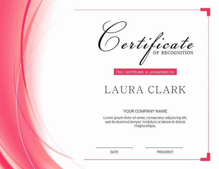 Certificate Of Appreciation Graduation Unique High School Diploma Template Design Pink