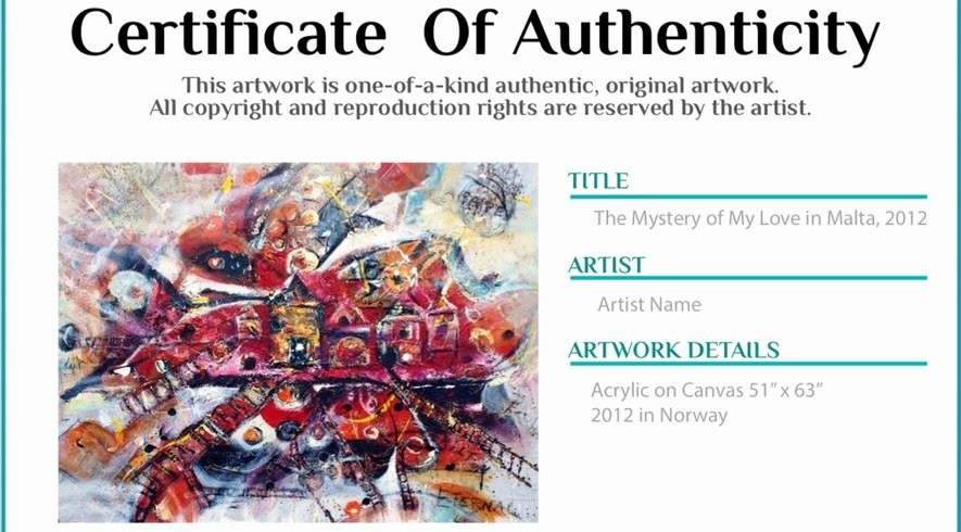Certificate Of Authenticity Artwork Template Beautiful Certificate Of Authenticity Agora Gallery Advice Blog