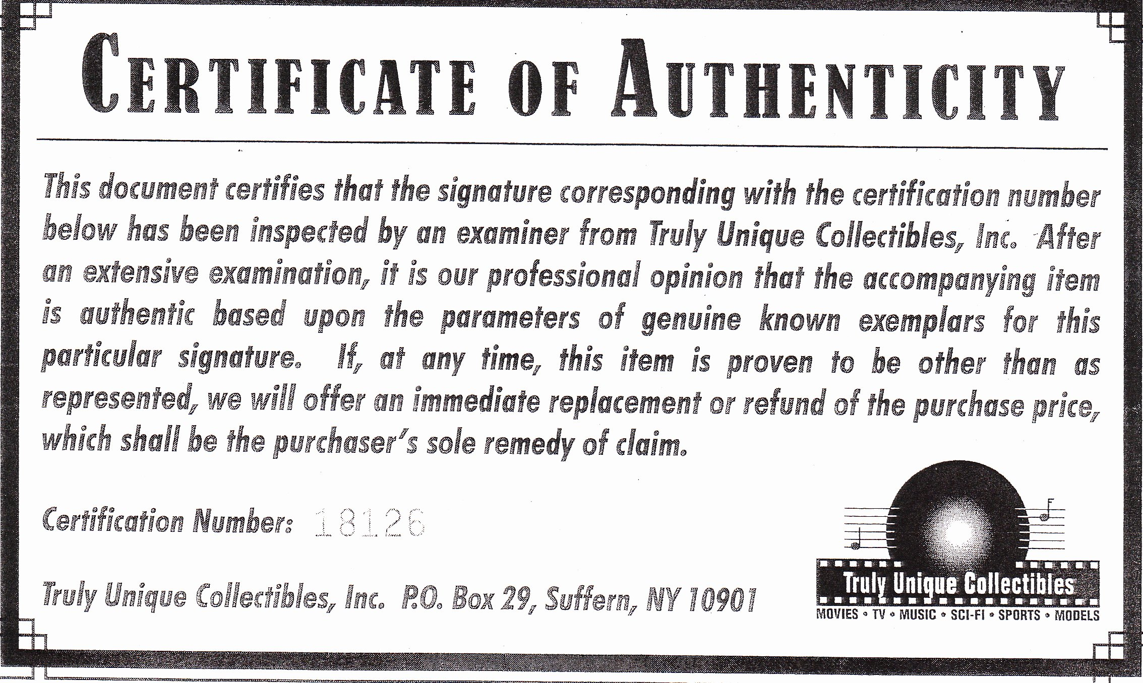 Certificate Of Authenticity Autograph Template Unique Phony Autograph Authenticators and Fake Coas Mar