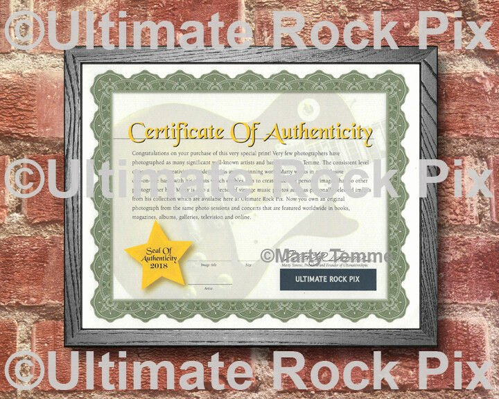Certificate Of Authenticity for Photography Best Of Upgrade Your Ultimaterockpix with Marty Temmes