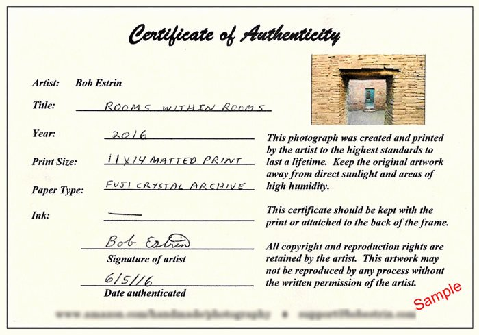 Certificate Of Authenticity for Photography Fresh Selling Your Art at An Art Show or Festival
