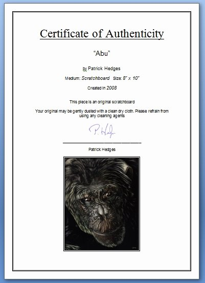 Certificate Of Authenticity for Photography Inspirational Certificate Authenticity Graphy