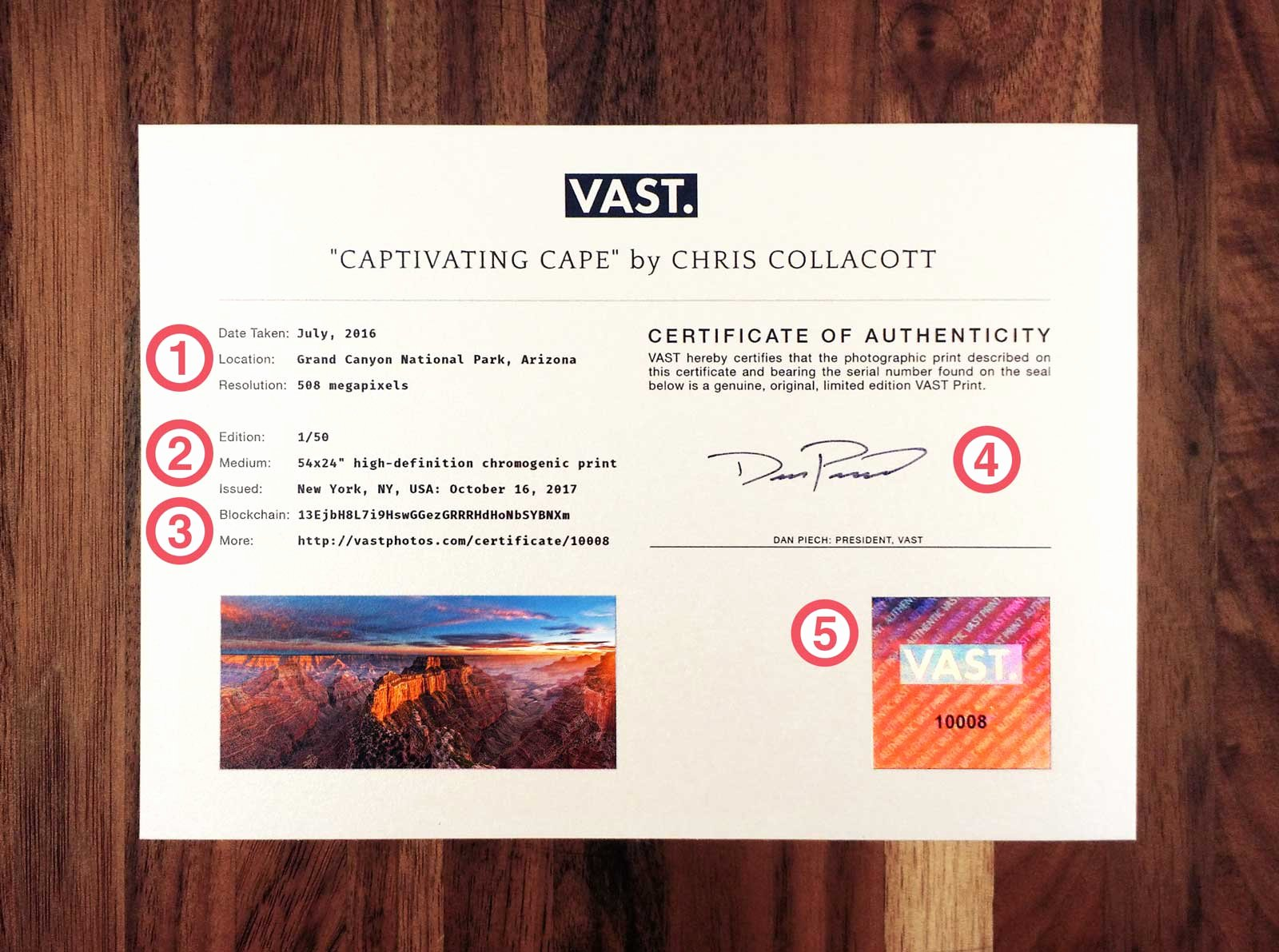 Certificate Of Authenticity for Photography Unique A Look at the Vast Certificate Of Authenticity – Vast Blog
