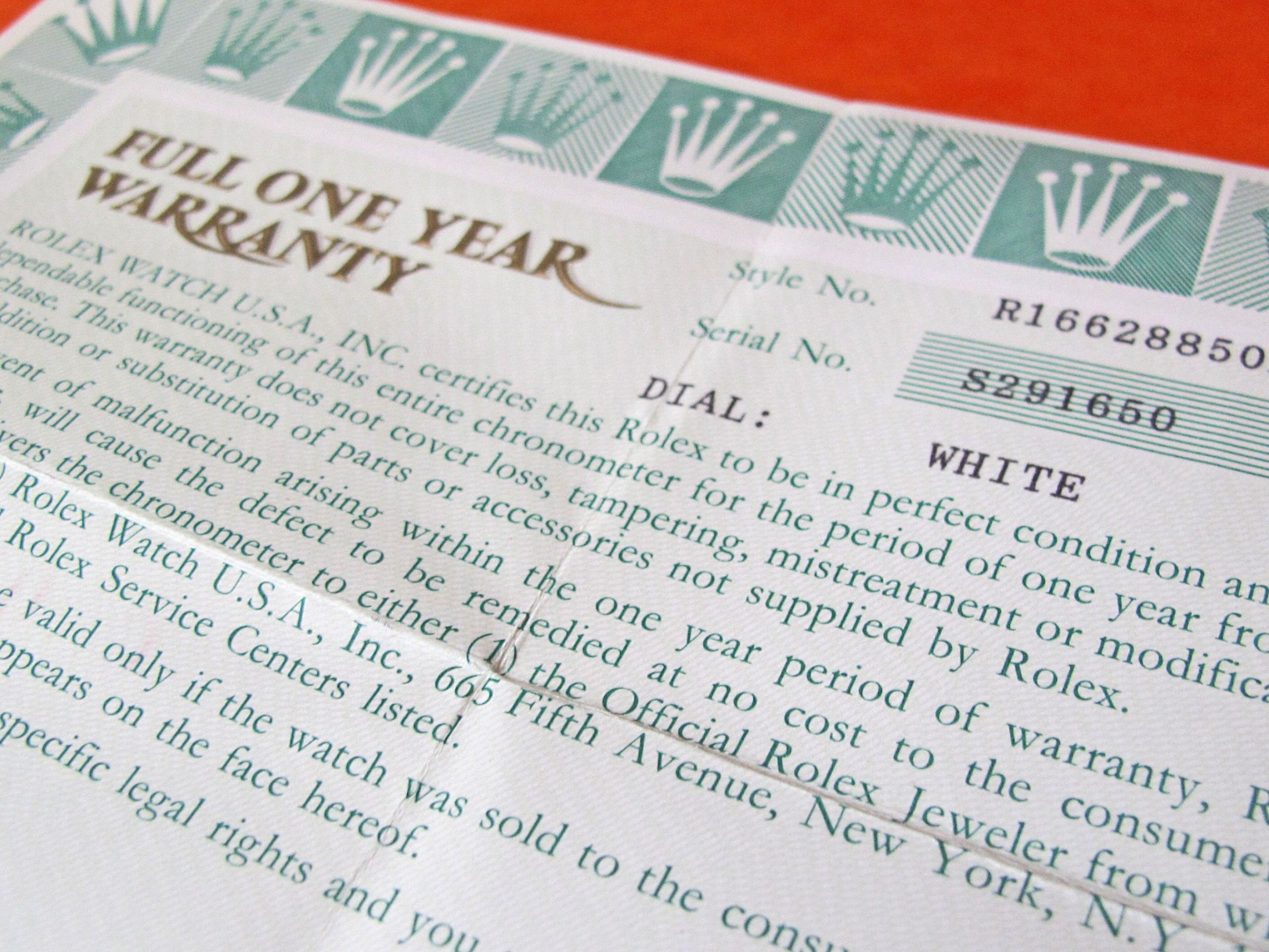 Certificate Of Authenticity Paper Beautiful Authentic Rolex Oem Vintage Guarantee Papers