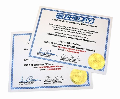 Certificate Of Authenticity Paper Beautiful Shelby Registry Vehicle Authenticity Certificate 2006 2019