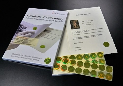 Certificate Of Authenticity Paper Elegant A4 25 Certificate Of Authenticity Hahnemühle Fomei