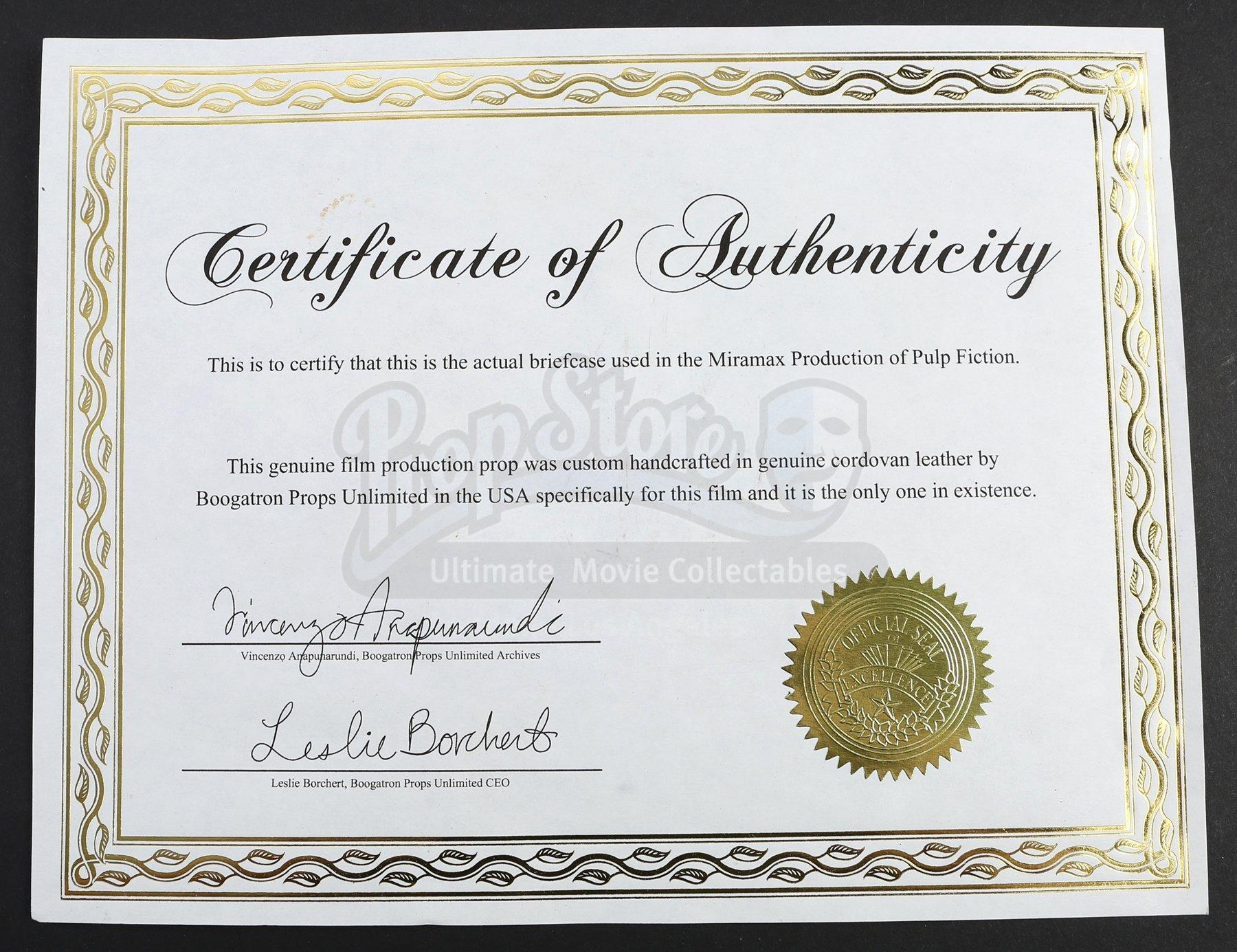 Certificate Of Authenticity Paper Fresh S2e19 Critical Stu S Abed Nadir S Danny Pudi