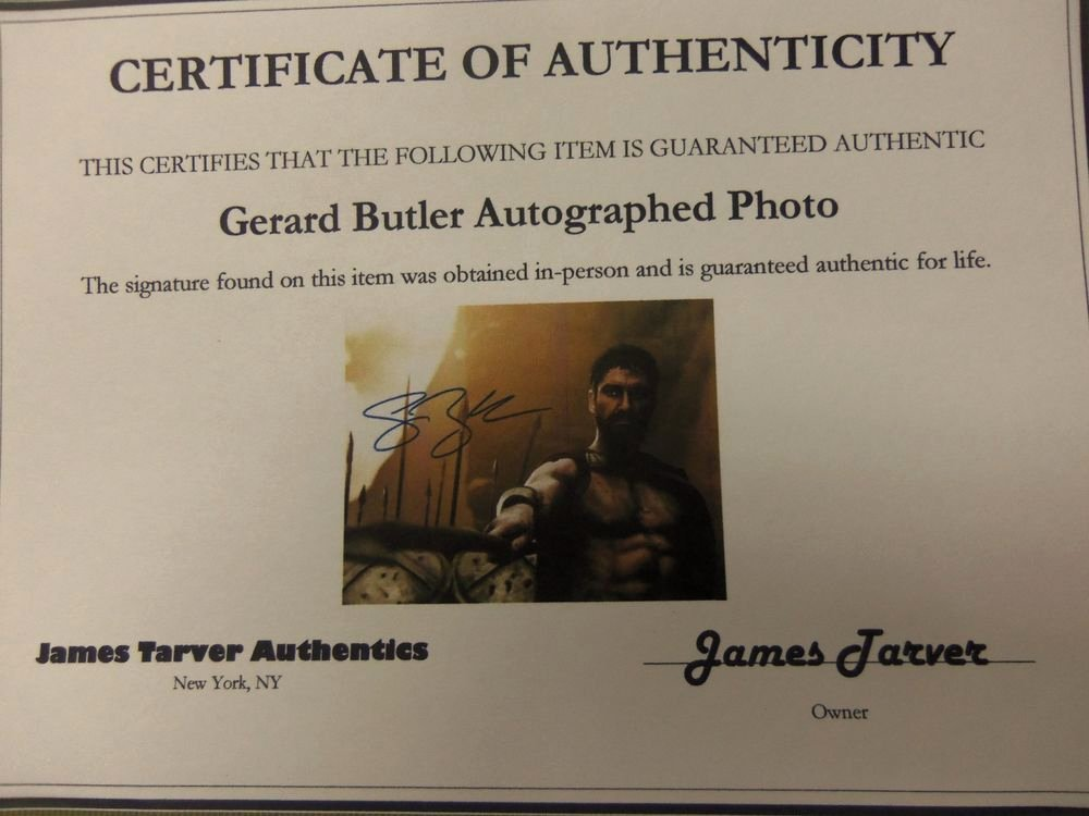 Certificate Of Authenticity Photography Fresh Gerard butler Hand Signed Autograph original with