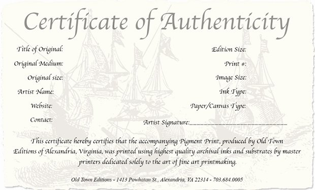 Certificate Of Authenticity Photography New How to Create A Certificate Authenticity for Your