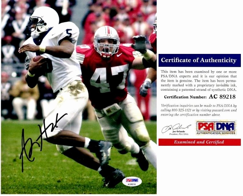 Certificate Of Authenticity Sports Memorabilia Template Awesome A J Hawk Autographed Aj 8x10 2002 National