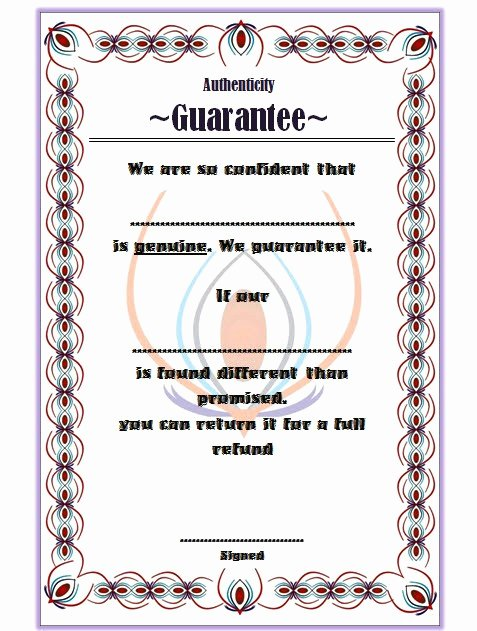 Certificate Of Authenticity Sports Memorabilia Template Awesome Certificate Of Authenticity Templates Free [10 Limited