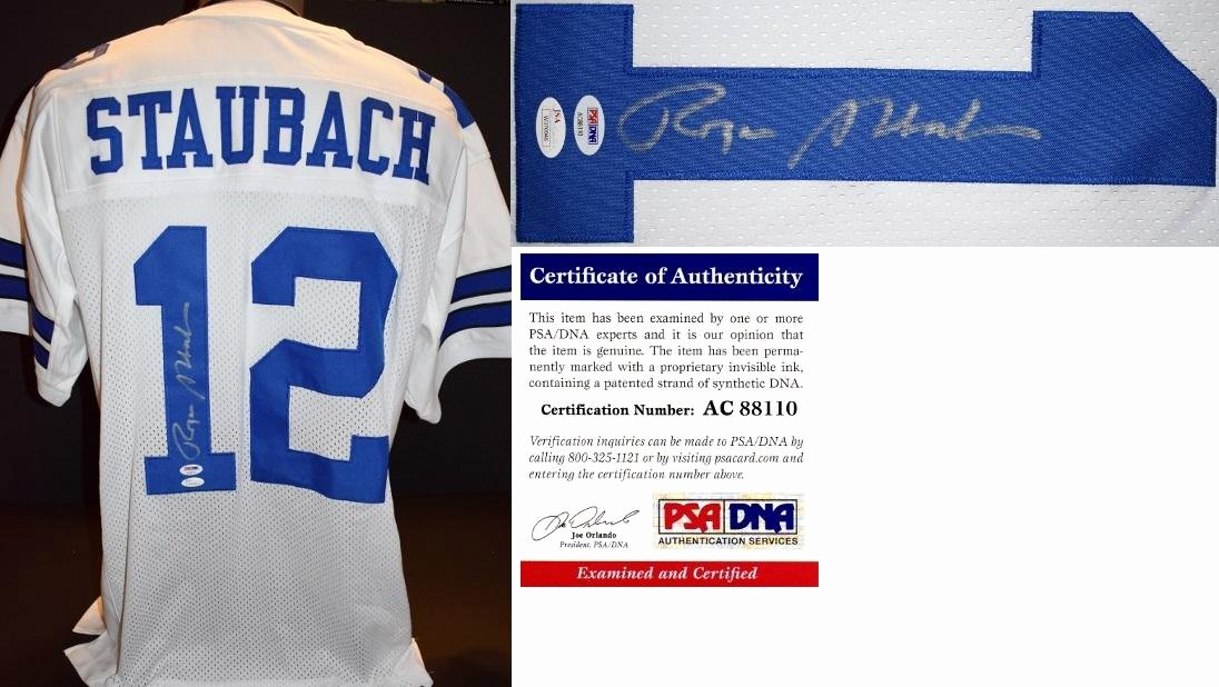 Certificate Of Authenticity Sports Memorabilia Template Beautiful Signed Roger Staubach Jersey Custom Jsa Authenticity