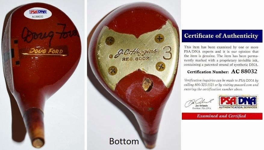 Certificate Of Authenticity Sports Memorabilia Template Lovely Doug ford Signed Autographed Driver Wood Club Head Psa