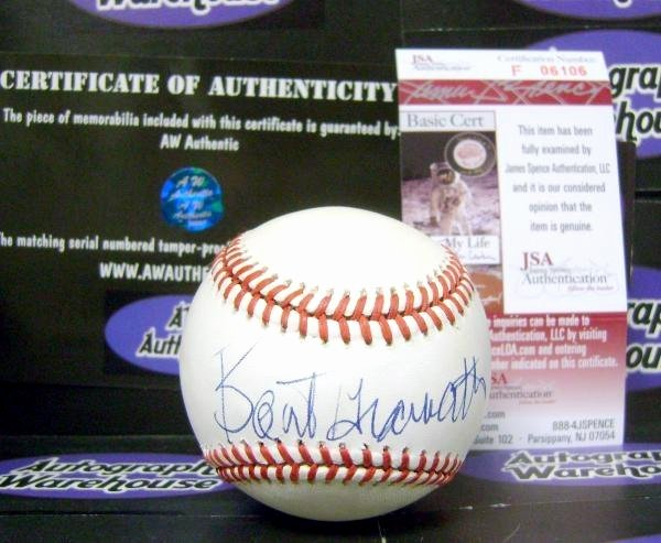 Certificate Of Authenticity Sports Memorabilia Template Unique Bart Giamatti Autographed Baseball National League