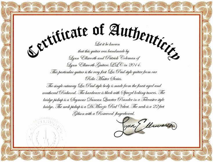 Certificate Of Authenticity Template for Art Best Of Sample Certificate Authenticity Graphy Best