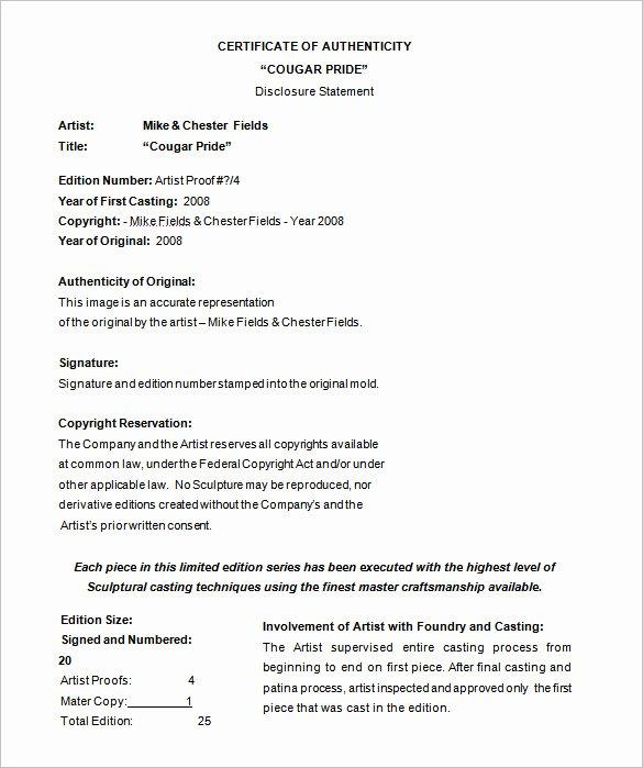 Certificate Of Authenticity Template Microsoft Word Luxury Certificate Template 50 Printable Word Excel Pdf Psd