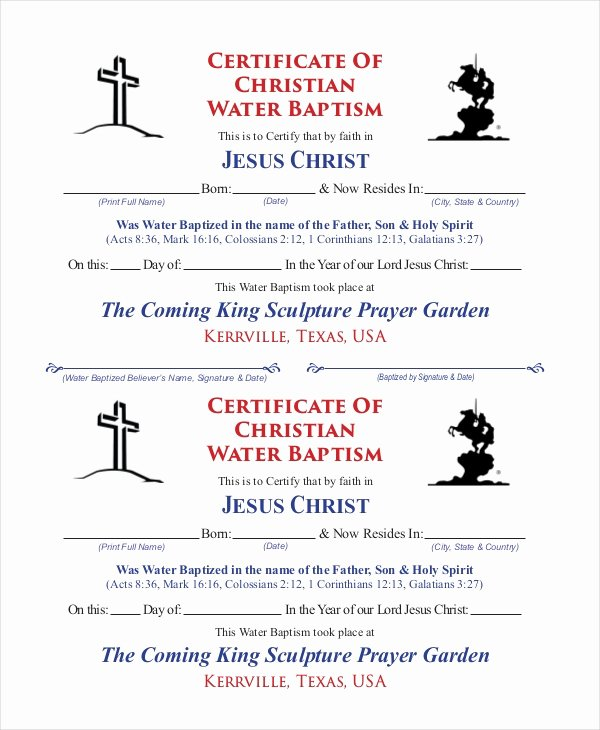 Certificate Of Baptism Template Best Of 18 Sample Baptism Certificate Templates Free Sample