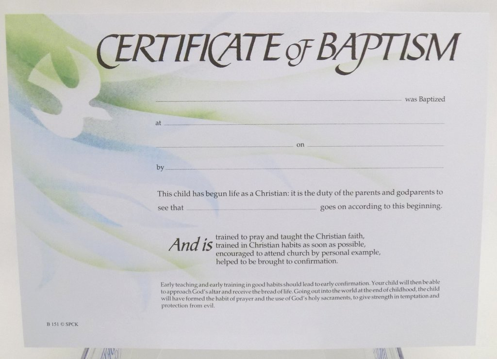 Certificate Of Baptism Template Best Of Baptism Certificate B151 – Liverpool Cathedral