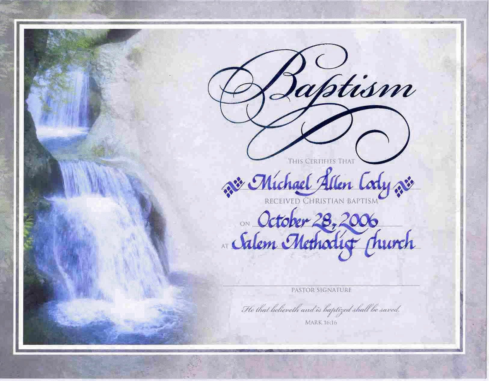 Certificate Of Baptism Template Best Of Water Baptism Certificate Templateencephalos