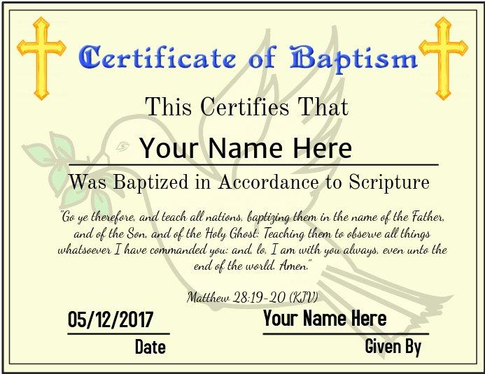 Certificate Of Baptism Template Elegant Copy Of Certificate Of Baptism