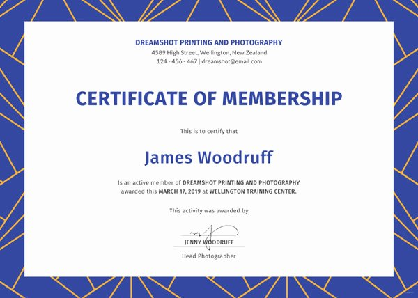 Certificate Of Church Membership Template Beautiful 23 Membership Certificate Templates Word Psd In