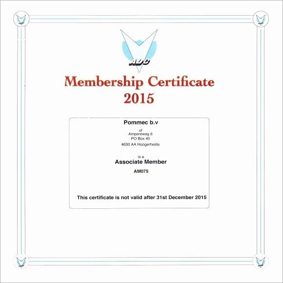 Certificate Of Church Membership Template Best Of Free 12 Sample Membership Certificate Templates In Pdf