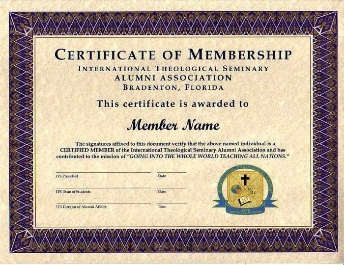 Certificate Of Church Membership Template Elegant Purple Certificate Membership Template 700×540