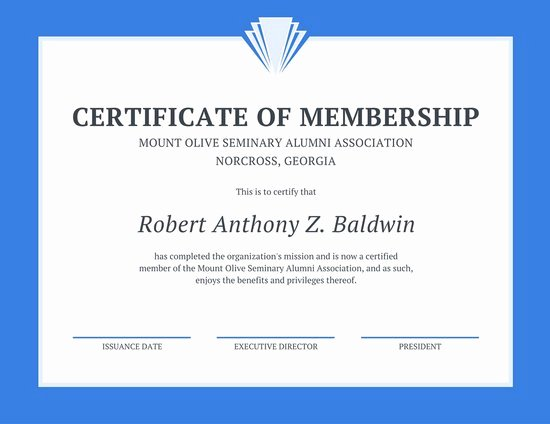 Certificate Of Church Membership Template Lovely Customize 64 Membership Certificate Templates Online Canva