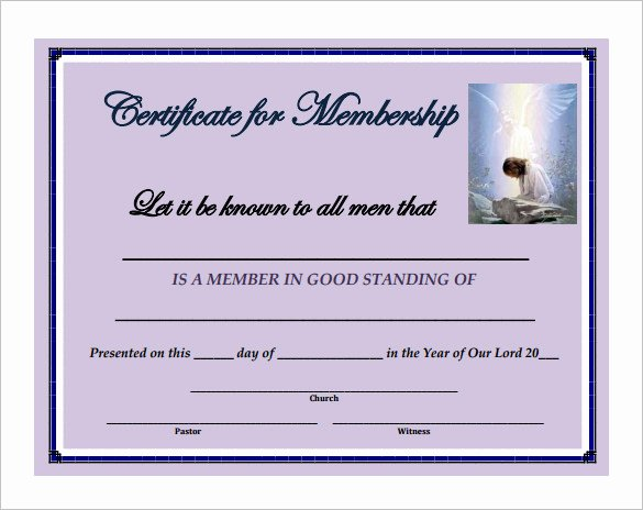 Certificate Of Church Membership Template Luxury 29 Of Membership Certificate Template