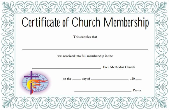 Certificate Of Church Membership Template Luxury Free 12 Sample Membership Certificate Templates In Pdf
