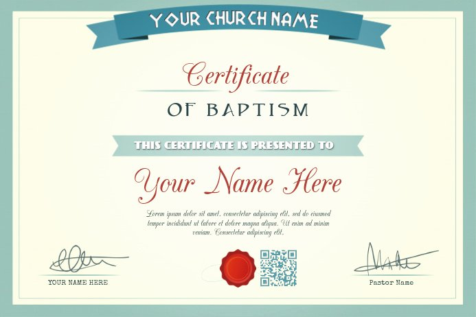 Certificate Of Church Membership Template New Church Certificate Template Baptism Wedding Appointment