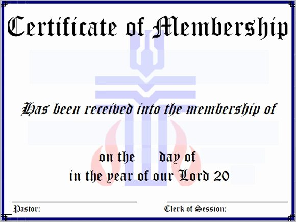 Certificate Of Church Membership Template Unique Free 12 Sample Membership Certificate Templates In Pdf