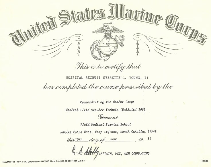 Certificate Of Commendation Usmc Template Awesome My Fleet Marine force Battlefield Medicine Certificate