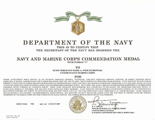 Certificate Of Commendation Usmc Template Best Of 27 Of Marine Training Pletion Certificate