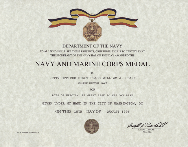 Certificate Of Commendation Usmc Template Lovely Navy and Marine Corps Medal Certificate