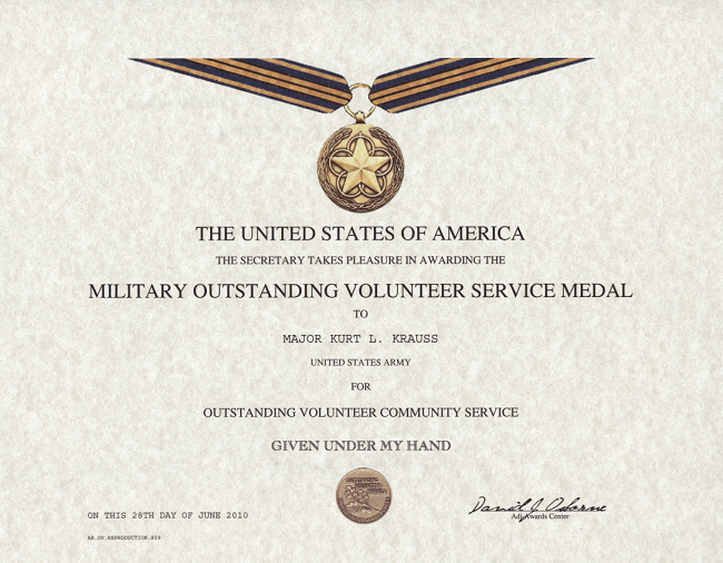 Certificate Of Commendation Usmc Template Lovely Outstanding Volunteer Service Medal Certificate