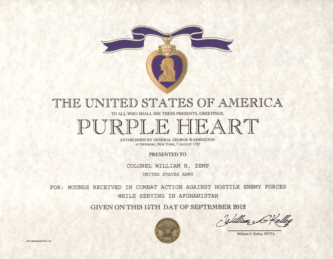 Certificate Of Commendation Usmc Template Luxury Purple Heart Certificate Purple Heart Medal