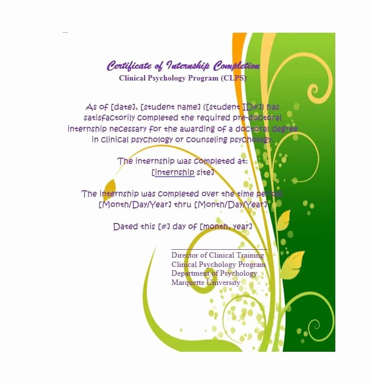 Certificate Of Completion Images Best Of 40 Fantastic Certificate Of Pletion Templates [word