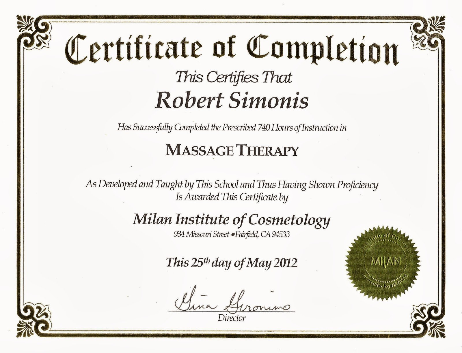 Certificate Of Completion Images Elegant Lavender Skye Massage therapy