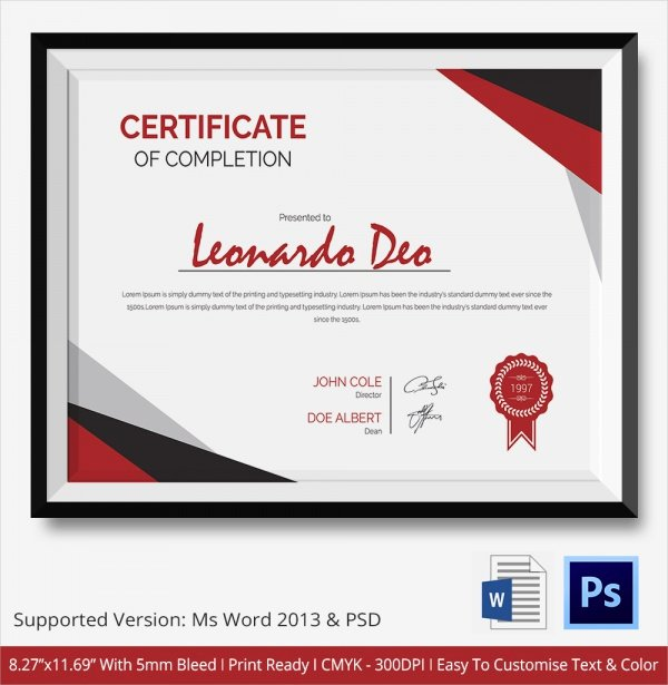 Certificate Of Completion Images Fresh 36 Sample Certificate Of Pletion Templates In