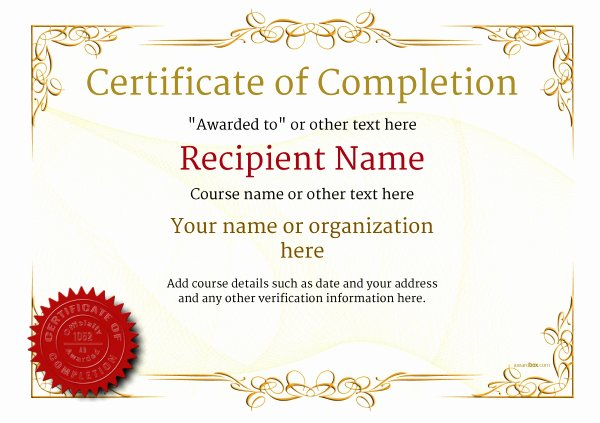 Certificate Of Completion Images Lovely Certificate Of Pletion Free Quality Printable