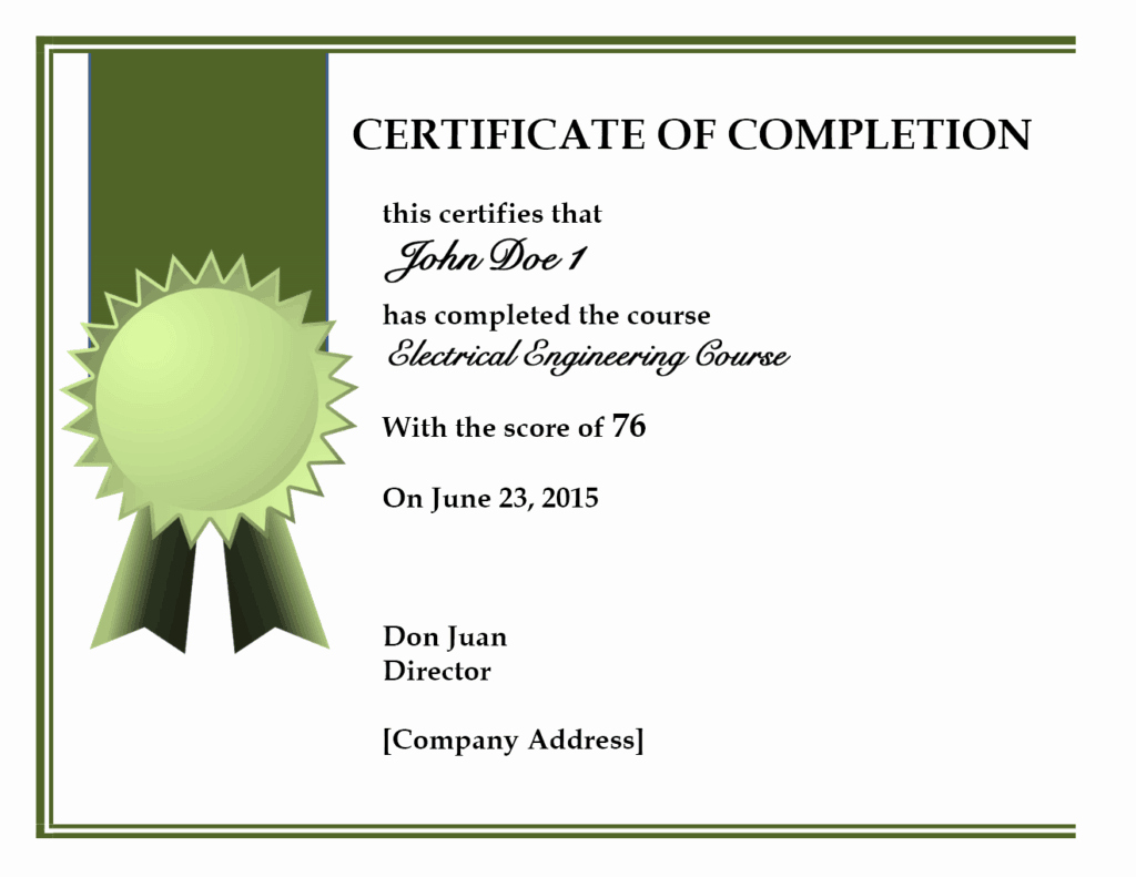 Certificate Of Completion Images New 10 Certificate Of Pletion Templates Word Excel Pdf